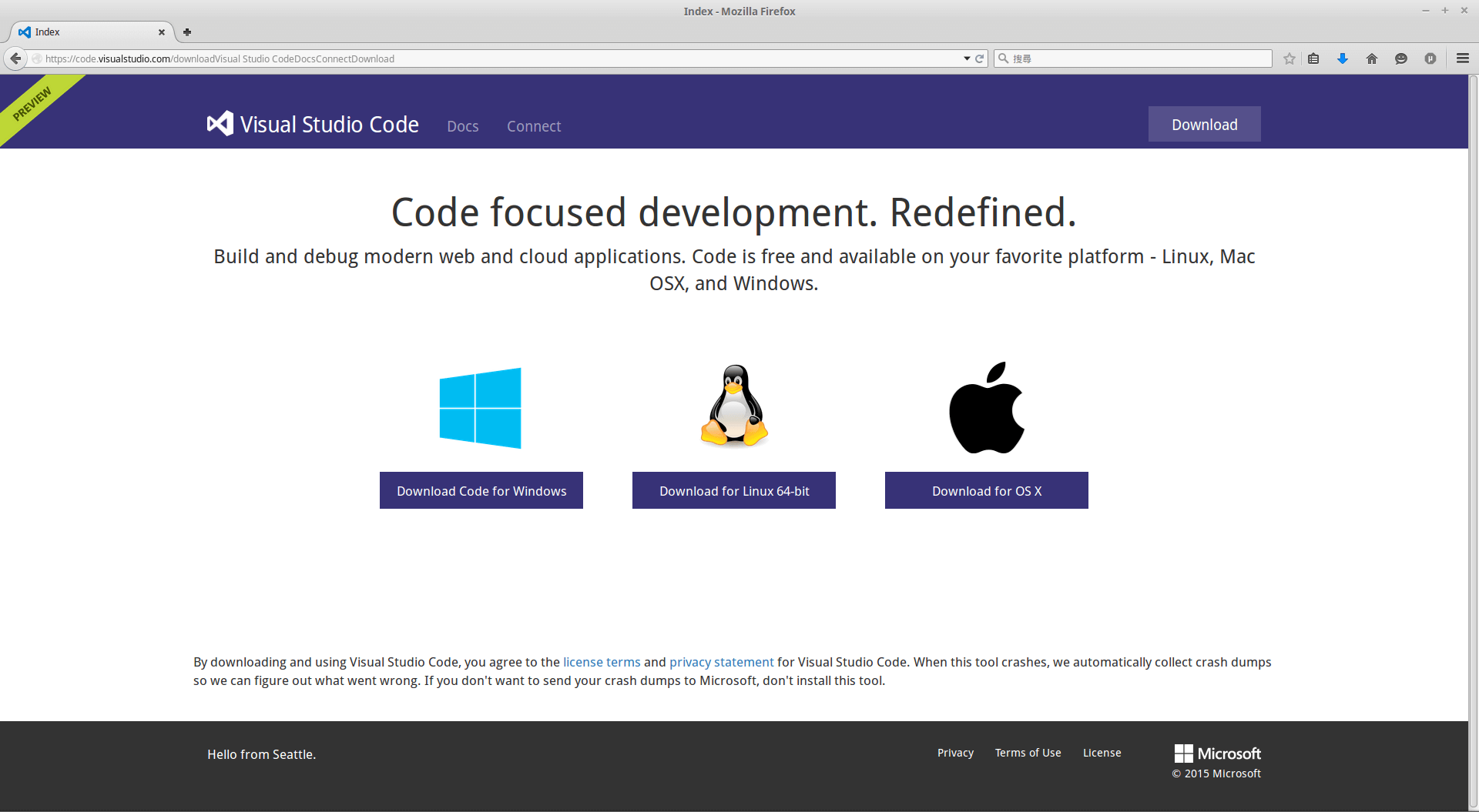 MicrosoftVisualStudioCodePreviewWebsite