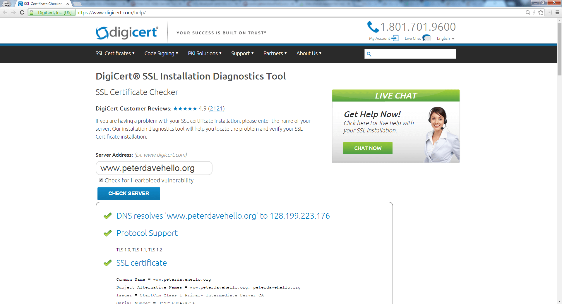 11 web server online httpsssl testing services peter dave digicert ssl installation diagnostics tool ssl certificate checker httpsdigicerthelp 1betcityfo Image collections