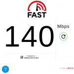 Netflix 推出的 Fast.com 網路測速服務