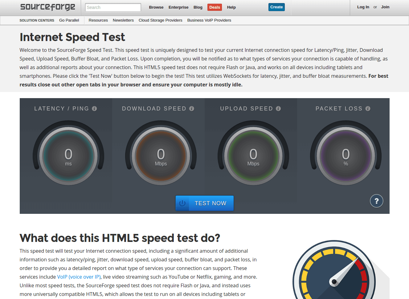 sourceforge-speedtest