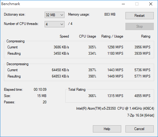 up-board-7-zip-benchmark